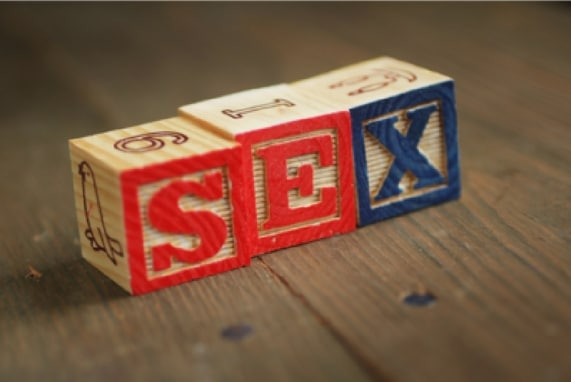 Summer 100. Sex Toys: The History, image of blocks with the words sex spelled out