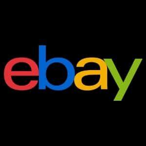 Blog resource, ebay logo black background