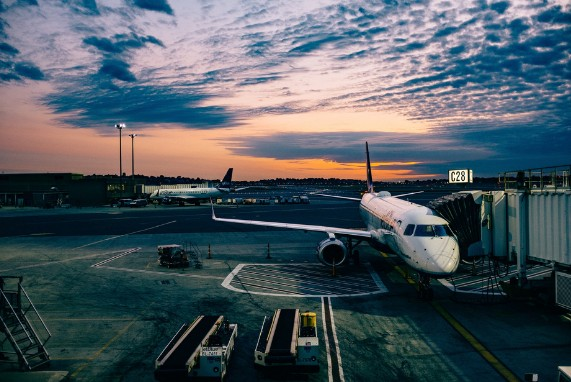 Meet Your Captain, Pleasure Connoisseurs Airplane, blue sky and clouds, airline maintenance.