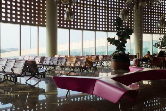 Meet Your Captain, Pleasure Connoisseurs Airport, red leather seats, modern fixtures
